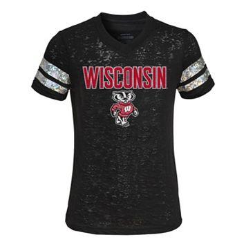 Girls 4-6x Wisconsin Badgers Opal Burnout Tee