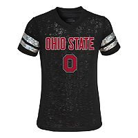 Ohio State Buckeyes Opal Burnout Tee - Girls 4-6x