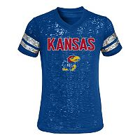 Girls 4-6x Kansas Jayhawks Opal Burnout Tee
