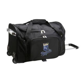 Denco Kansas City Royals 22-Inch Wheeled Duffel Bag