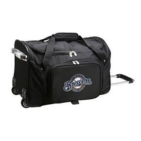 Denco Milwaukee Brewers 22-Inch Wheeled Duffel Bag