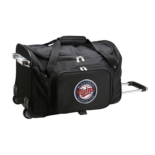 Denco Minnesota Twins 22-Inch Wheeled Duffel Bag