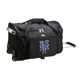Denco New York Mets 22-Inch Wheeled Duffel Bag