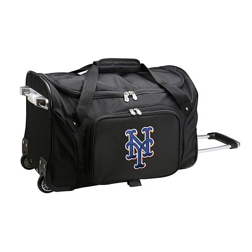 Denco New York Mets 22-Inch Wheeled Duffel Bag