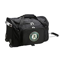 Denco Oakland Athletics 22-Inch Wheeled Duffel Bag