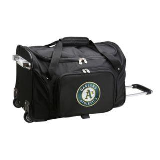 Denco Oakland Athletics 22-Inch Wheeled Duffel Bag