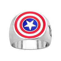 Avengers Captain America Stainless Steel Ring - Men