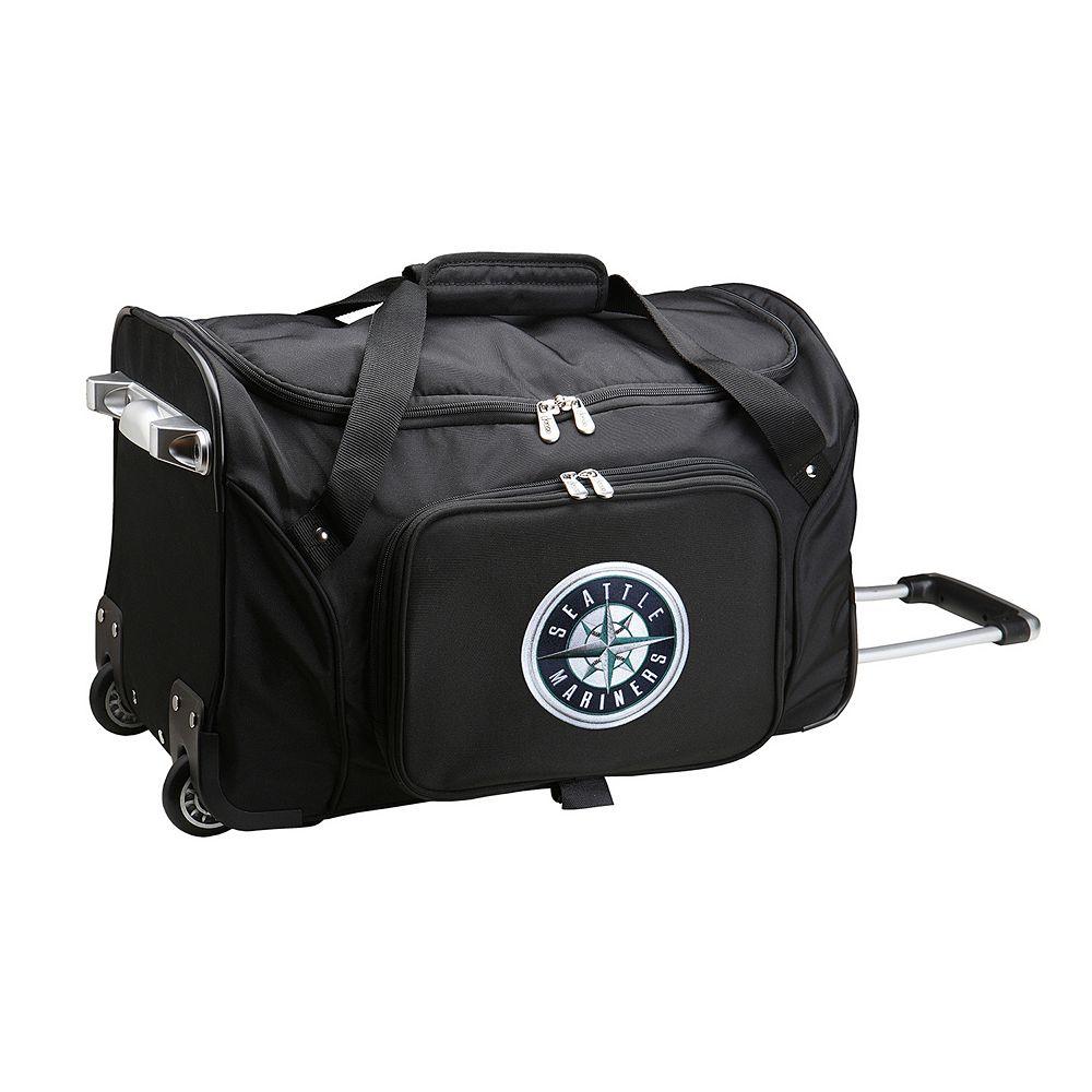 Denco Seattle Mariners 22-Inch Wheeled Duffel Bag
