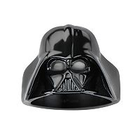 Star Wars Darth Vader Black Ion-Plated Stainless Steel Darth Vader Ring - Men
