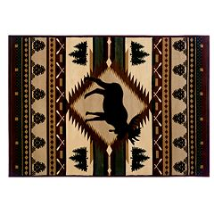 United Weavers Designer Contours Moose Wilderness Rug