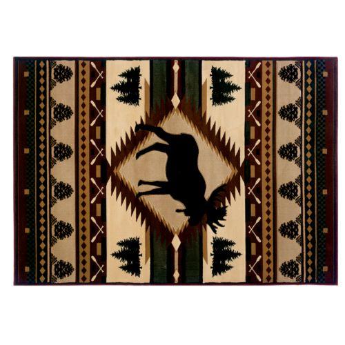 United Weavers Designer Contours Moose Wilderness Rug