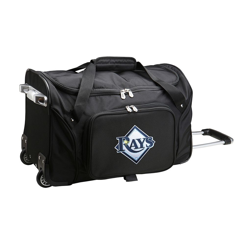 Denco Tampa Bay Rays 22-Inch Wheeled Duffel Bag