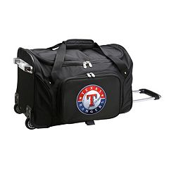 Denco Texas Rangers 22-Inch Wheeled Duffel Bag