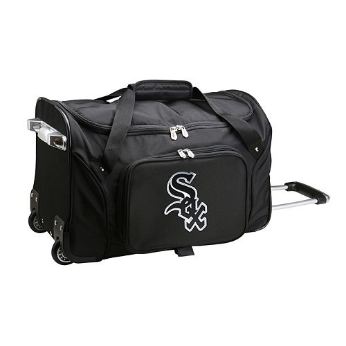 Denco Chicago White Sox 22-Inch Wheeled Duffel Bag
