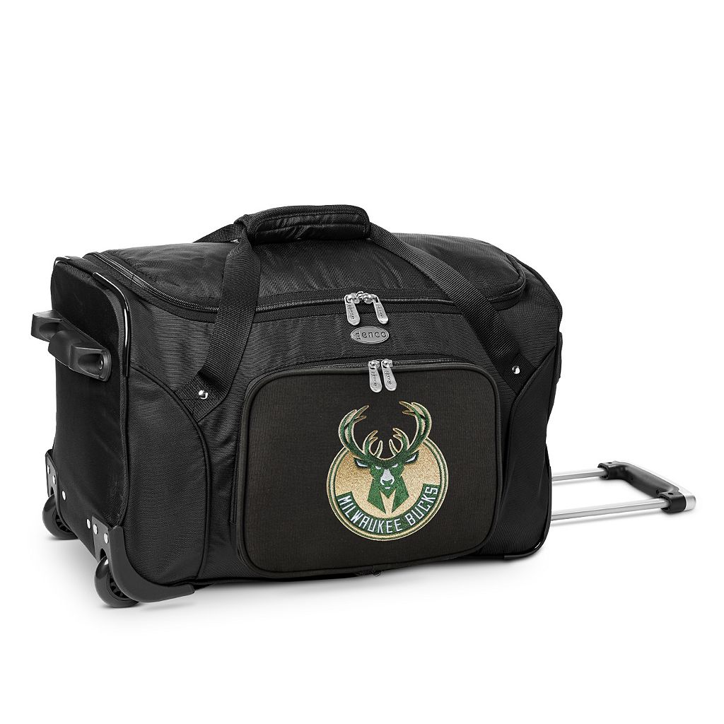 Denco Milwaukee Bucks 22-Inch Wheeled Duffel Bag