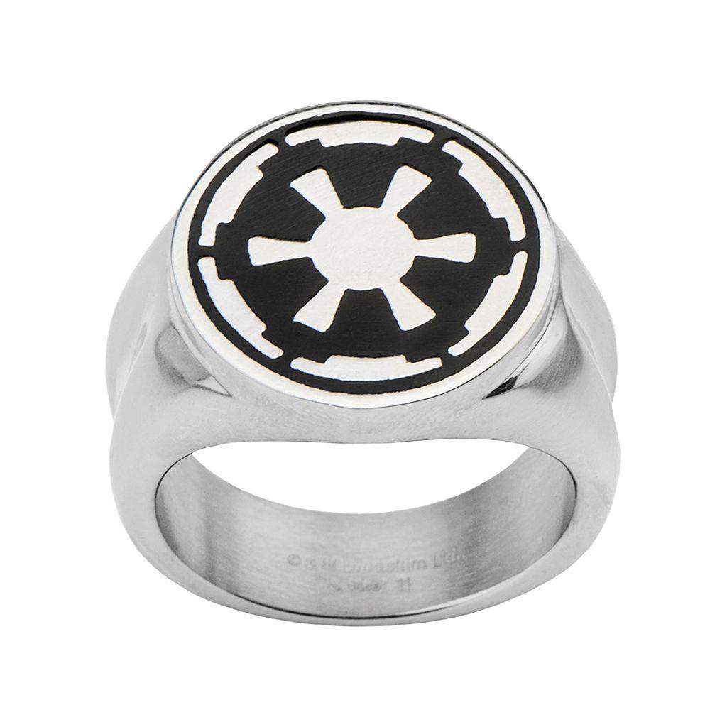Star Wars Stainless Steel Imperial Symbol Ring - Men