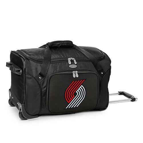 Denco Portland Trail Blazers 22-Inch Wheeled Duffel Bag