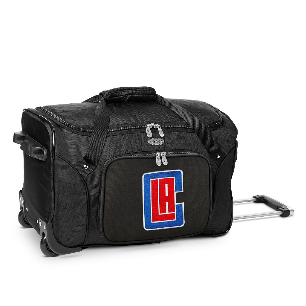 Denco Los Angeles Clippers 22-Inch Wheeled Duffel Bag