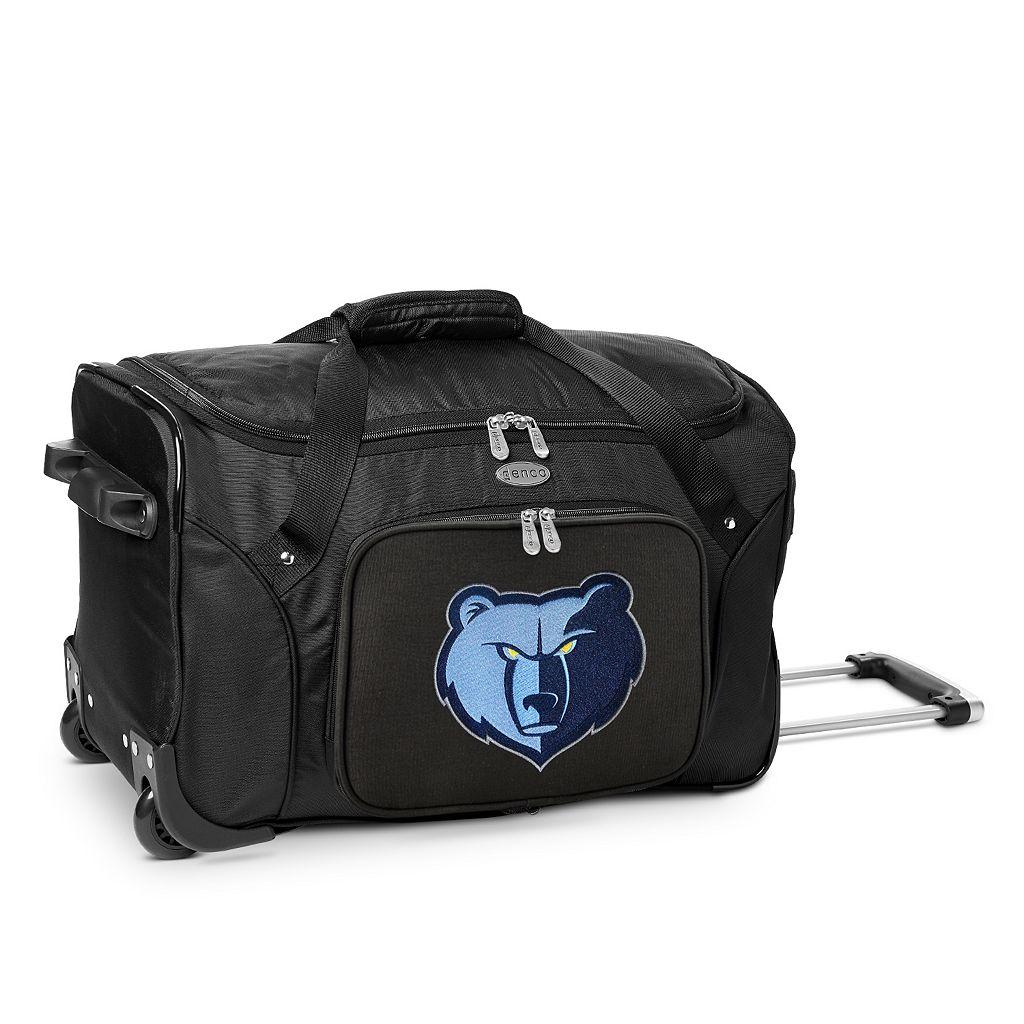 Denco Memphis Grizzlies 22-Inch Wheeled Duffel Bag