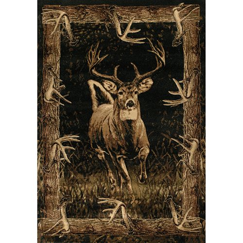 United Weavers Contours JQ Collection Running Deer Rug