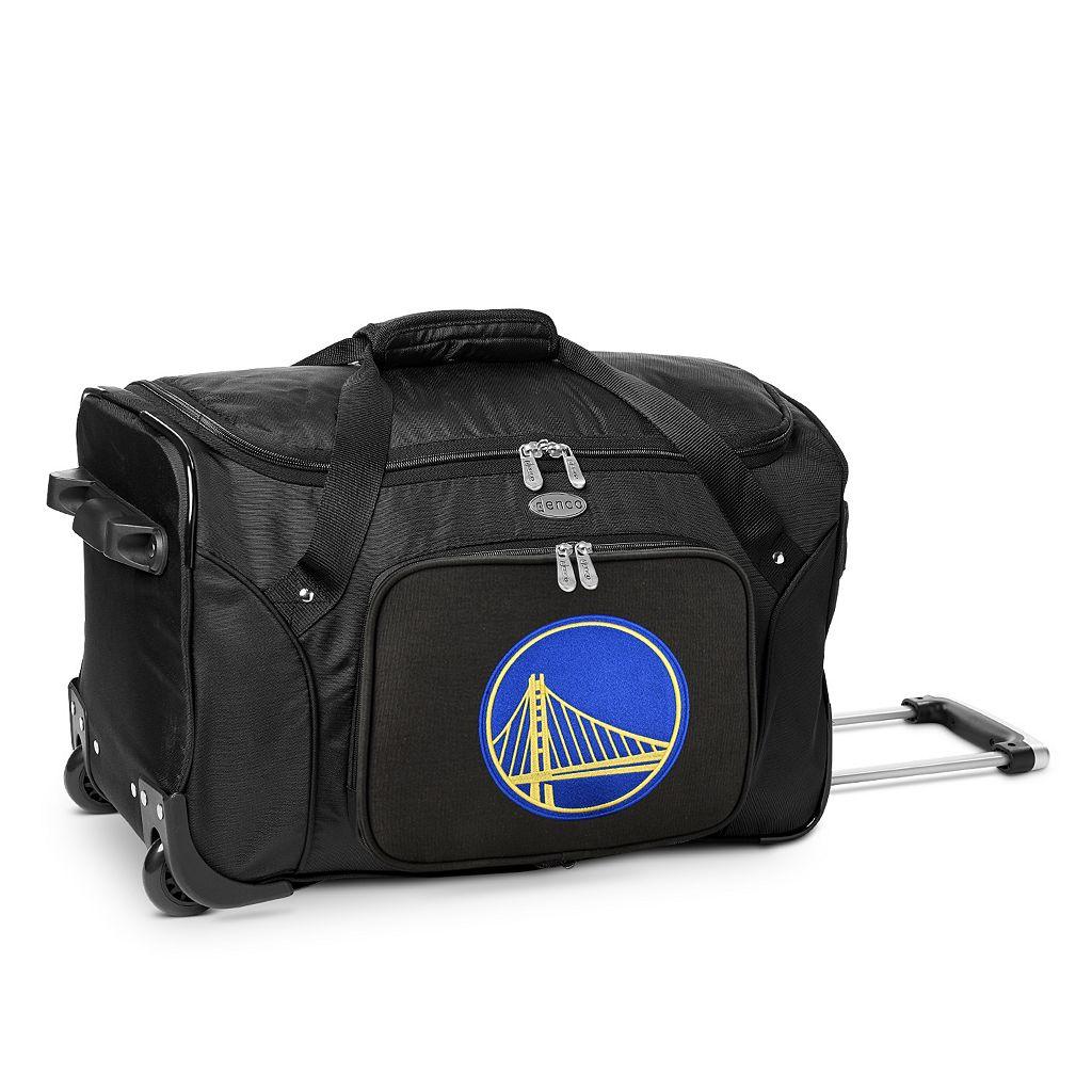 Denco Golden State Warriors 22-Inch Wheeled Duffel Bag