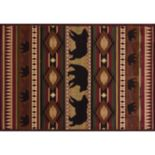 United Weavers Designer Contours Native Bear Rug