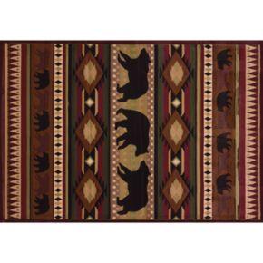 United Weavers Designer Contours Native Bear Rug