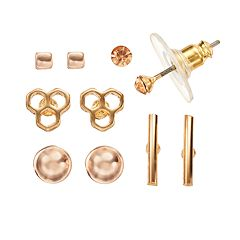 LC Lauren Conrad Geometric Two Tone Stud Earring Set
