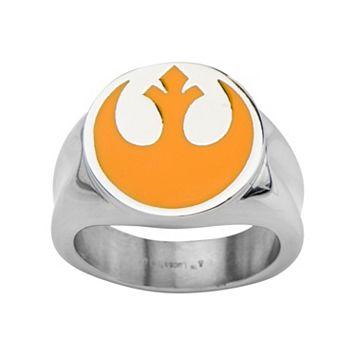 Star Wars Stainless Steel Rebel Symbol Ring - Men