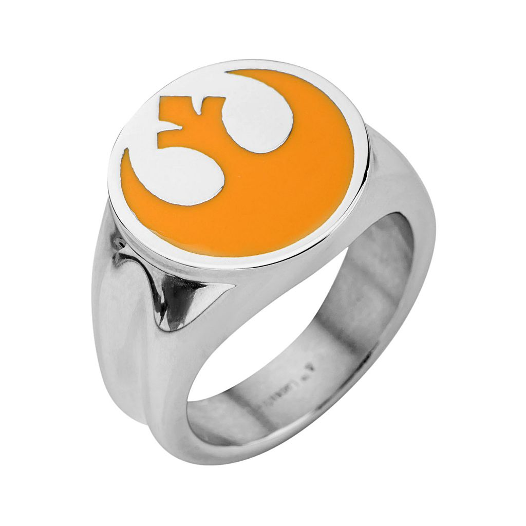Star Wars Stainless Steel Rebel Symbol Ring - Men