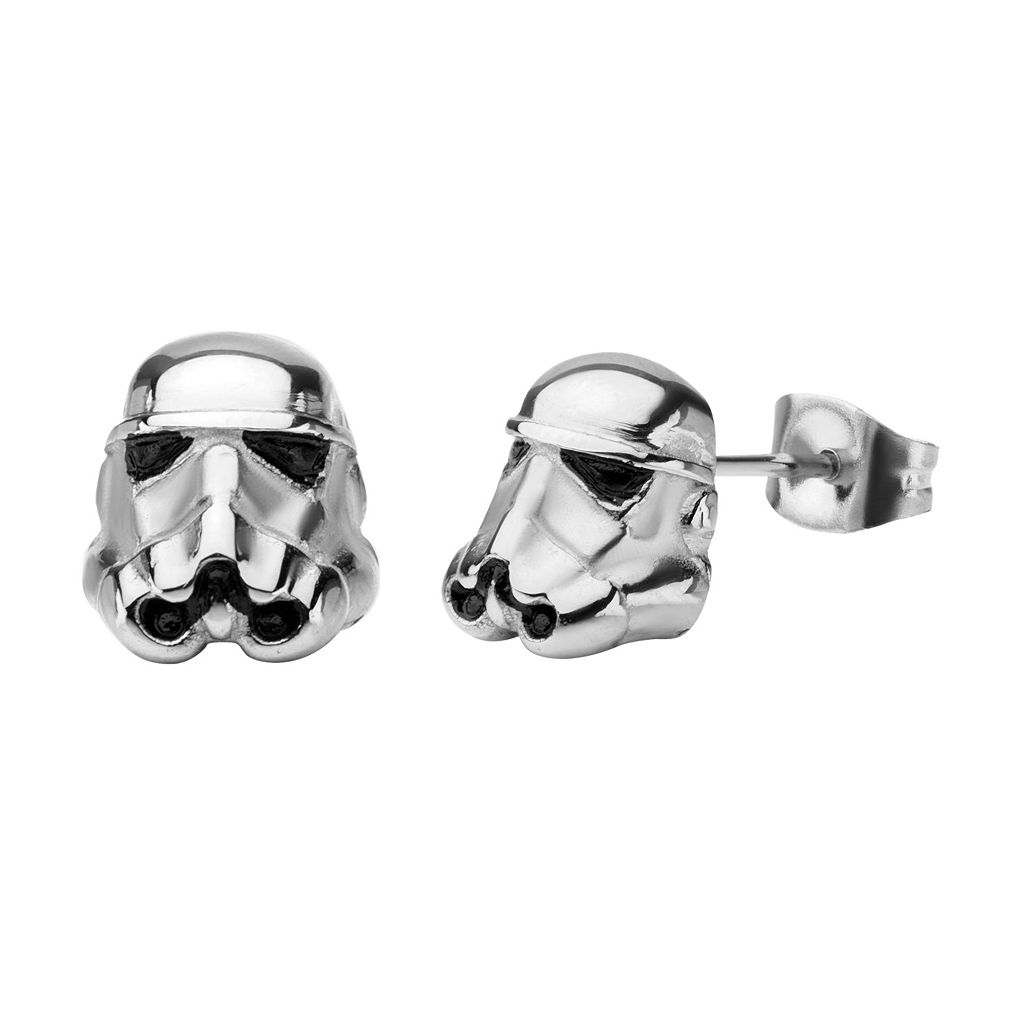Star Wars Stormtrooper Stainless Steel Stud Earrings