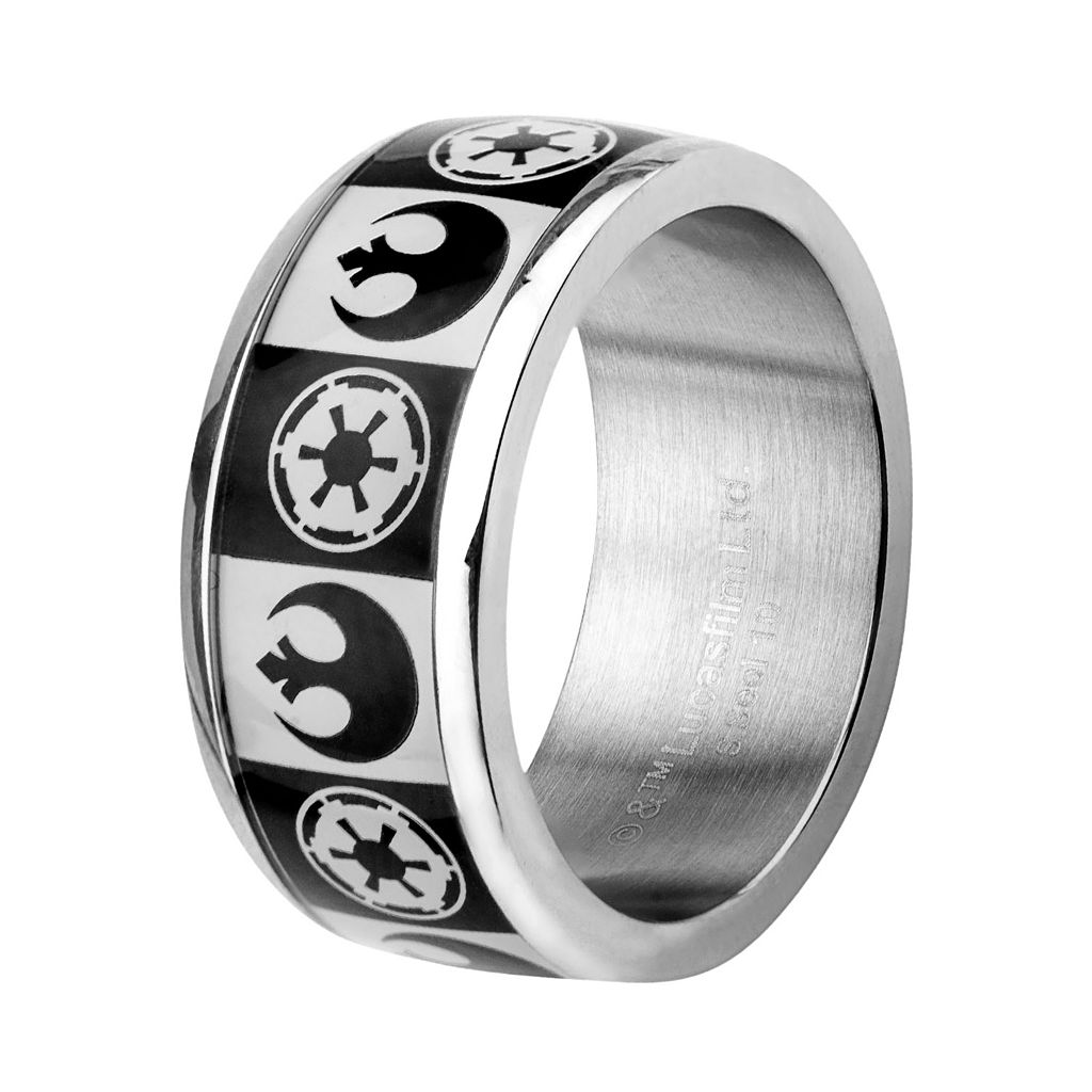 Star Wars Stainless Steel Imperial & Rebel Band - Men
