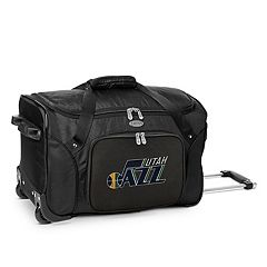 Denco Utah Jazz 22-Inch Wheeled Duffel Bag