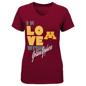 Girls 4-6x Minnesota Golden Gophers In Love Tee