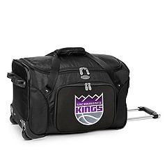 Denco Sacramento Kings 22-Inch Wheeled Duffel Bag