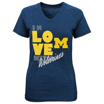 Girls 4-6x Michigan Wolverines In Love Tee