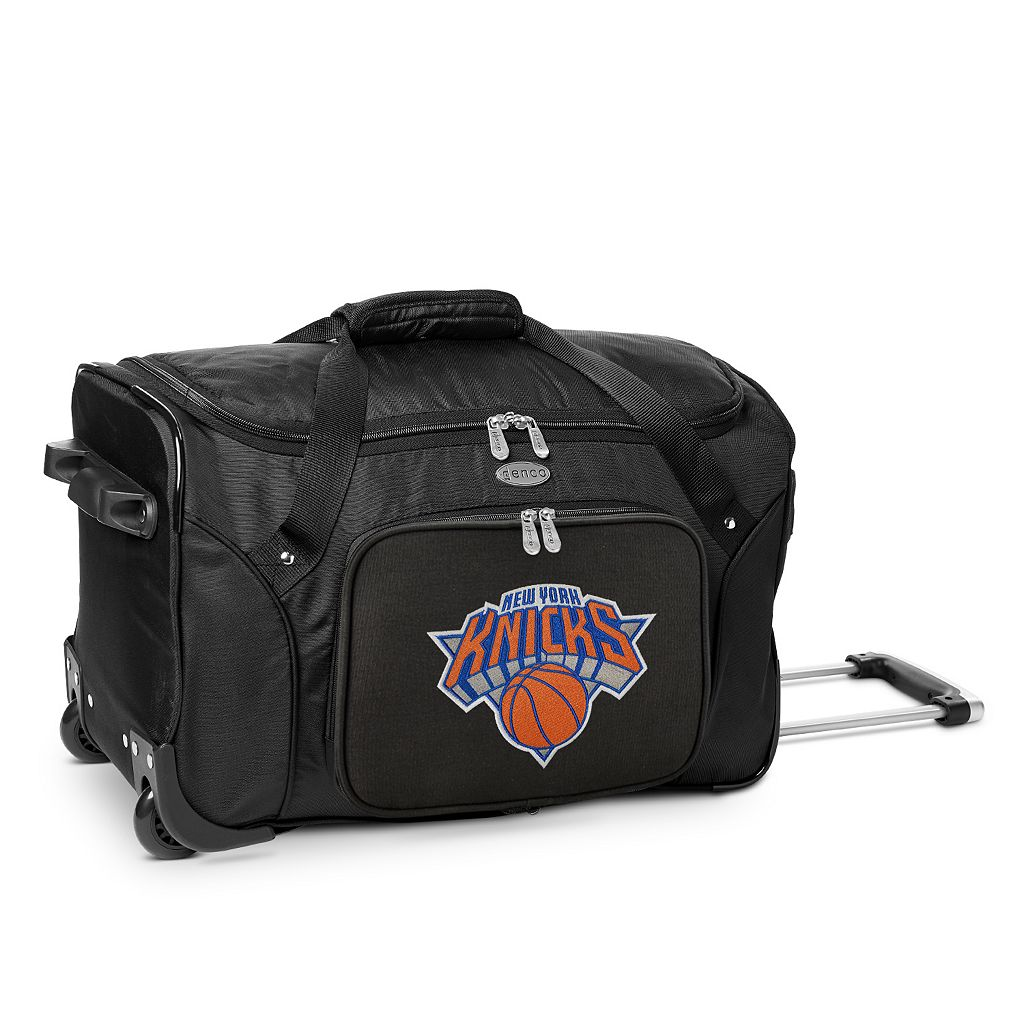 Denco New York Knicks 22-Inch Wheeled Duffel Bag