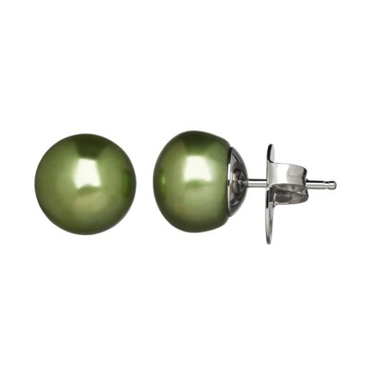 Freshwater by HONORA Dyed Freshwater Cultured Pearl Sterling Silver Stud Earrings