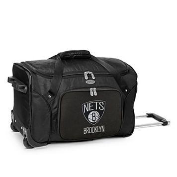 Denco Brooklyn Nets 22-Inch Wheeled Duffel Bag