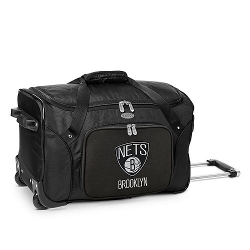 Denco Brooklyn Nets 22-Inch Wheeled Duffel Bag