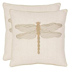 Safavieh 2 pc Azure Damselfly Throw Pillow Set