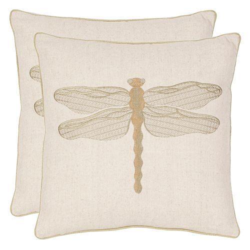 Safavieh 2-piece Azure Damselfly Throw Pillow Set