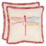Safavieh 2-piece Azure Demoiselle Throw Pillow Set
