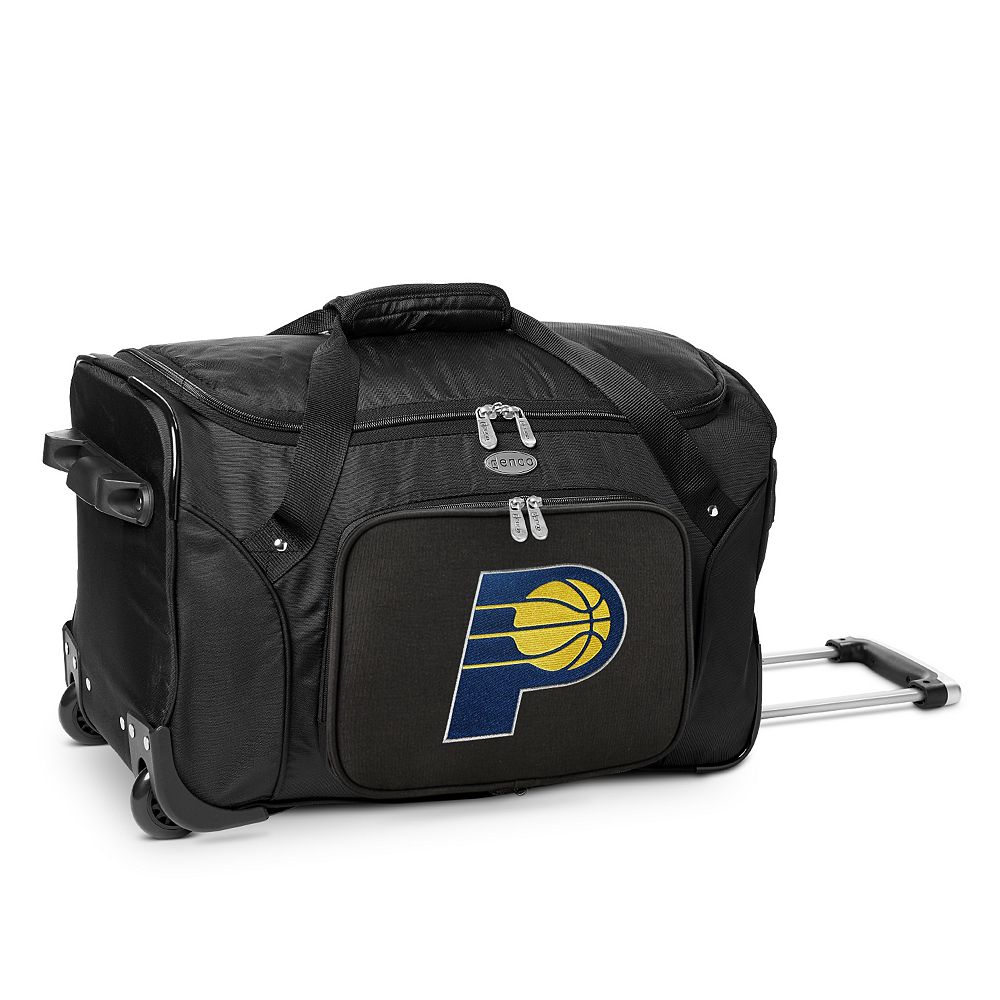 Denco Indiana Pacers 22-Inch Wheeled Duffel Bag