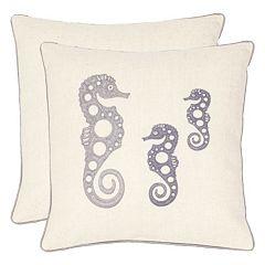 Safavieh 2-piece Tropical Seahorse Throw Pillow Set