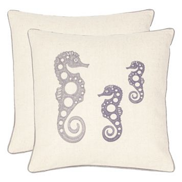 Safavieh 2-piece Tropical Seahorse Throw Pillow Set