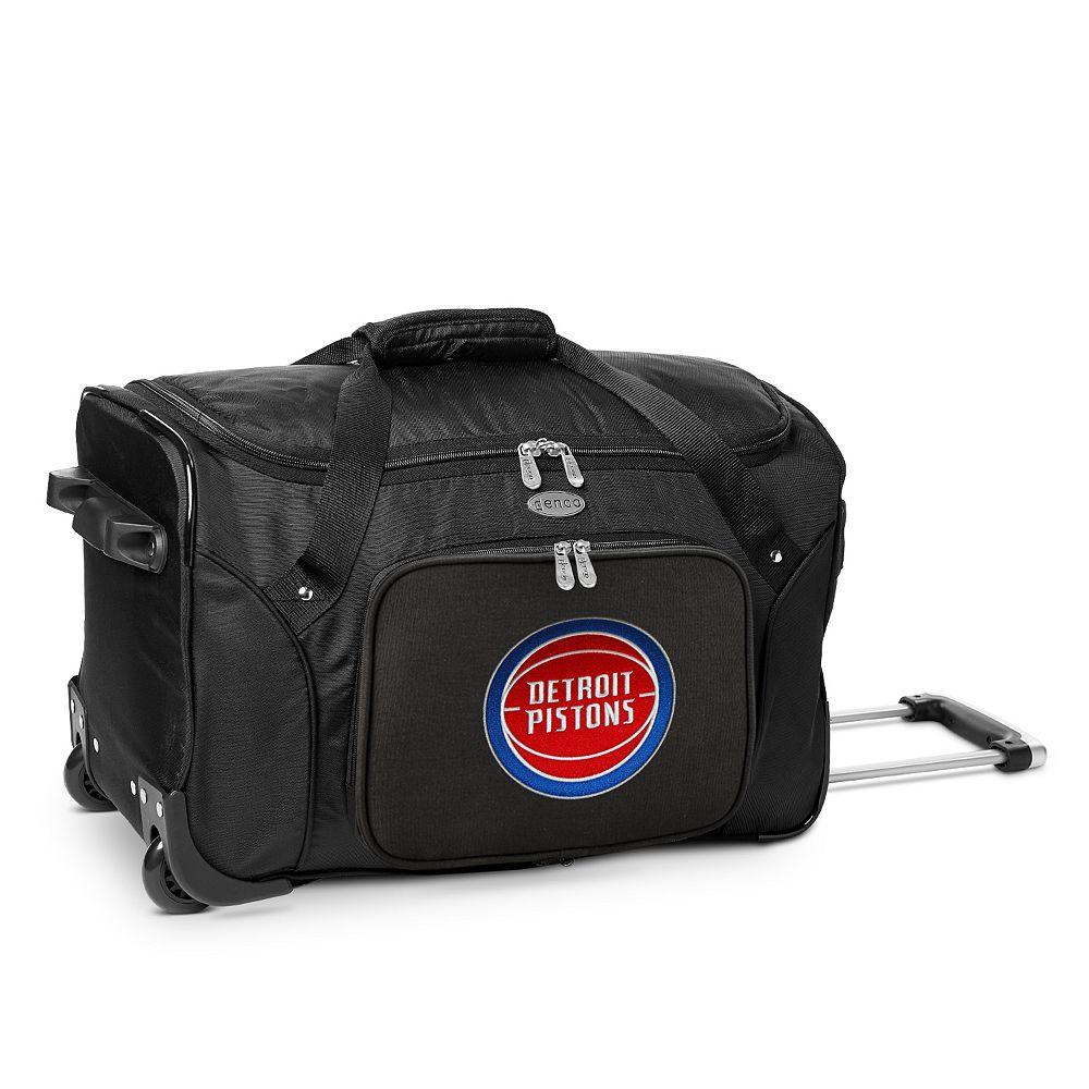 Denco Detroit Pistons 22-Inch Wheeled Duffel Bag