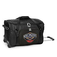 Denco New Orleans Pelicans 22-Inch Wheeled Duffel Bag