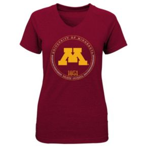 Girls 4-6x Minnesota Golden Gophers Medallion Tee