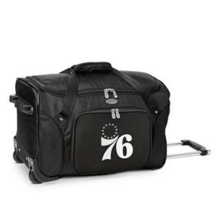 Denco Philadelphia 76ers 22-Inch Wheeled Duffel Bag